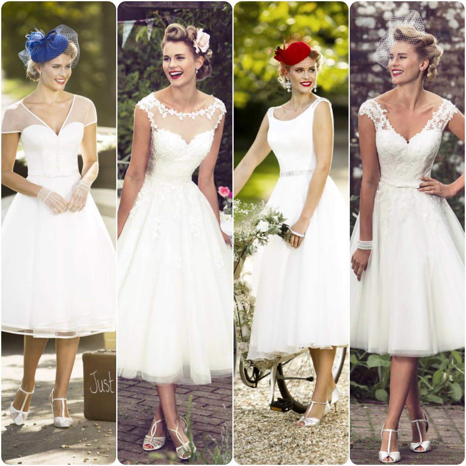 Tealength Wedding Dresses